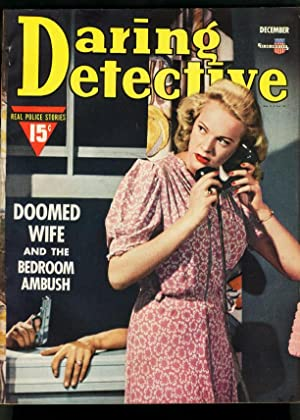DARING DETECTIVE DEC 1941-DOOMED WIFE-BEDROOM AMBUSH-FN FN