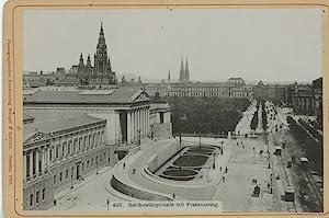 Österreich, Wien, Reichsrathsgebäude mit Franzensring: Photographie originale /