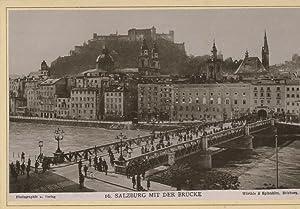 Würthle & Spinnhirn, Salzburg mit der Brücke: Photographie originale /