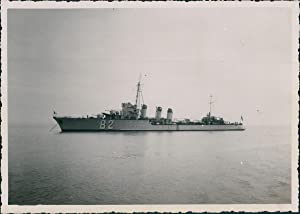 France, Navire de Guerre à identifier: Photographie originale /
