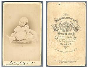 Boissonnas, Un bébé pose: Photographie originale /