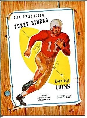 San Francisco 49ers VS Detroit Lions-NFL Game Program 8/25/1953-Kezar-G