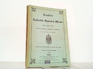 Rangliste der Kaiserlich Deutschen Marine für das Jahr 1906. Mit einem Anhange, enthaltend die ...