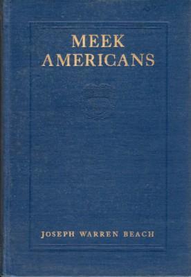 Meek Americans & Other European Trifles: Beach, Joseph Warren