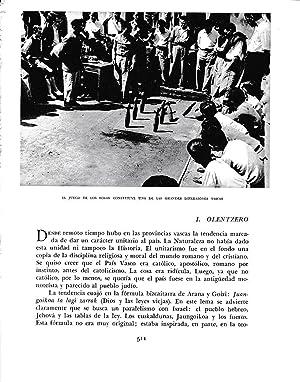 LAMINA 6307: Juego de los bolos: Pio Baroja