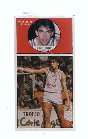 Imagen del vendedor de Cromo: Baloncesto 1986-1987: numero 121: Jose Biriukov del Real Madrid a la venta por EL BOLETIN