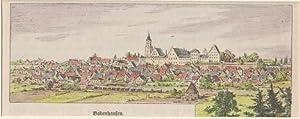 Orig. kolorierter Holzstich - Bayern - Babenhausen.