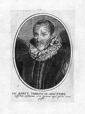 """Iac. August. Thuanus in Sanctoire"""" - Jacob August Thuan historien Historiker Portrait ..."""