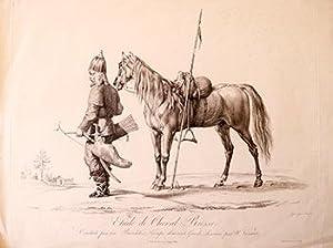 Etude de Cheval Russe, conduit par un: Vernet, Horace (1789-1863)
