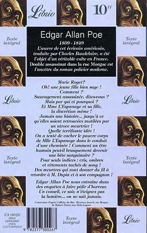 Double assassinat dans la rue Morgue: Poe Edgar-Allan