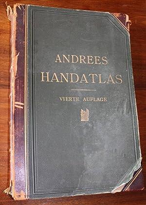 Andrees Allgemeiner Handatlas in 126 Haupt- und 139 Nebenkarten nebst vollständigem alphabetischem ...