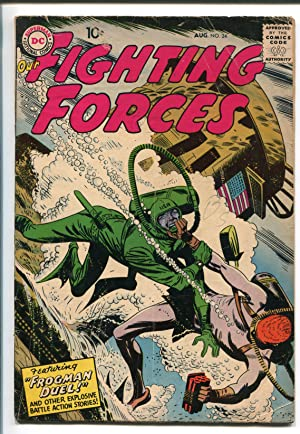 OUR FIGHTING FORCES #22-1957-DC-SILVER AGE-FROGMAN DUEL-vg