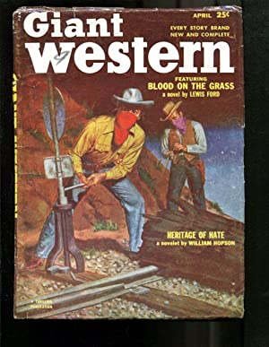 GIANT WESTERN-1953-APR-LOUIS L'AMOUR-RARE LATE ISSUE PU VG
