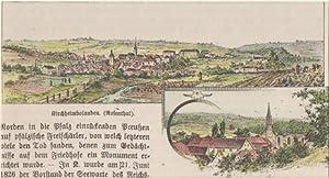 Orig. kolorierter Holzstich - Bayern - Kirchheimbolanden.