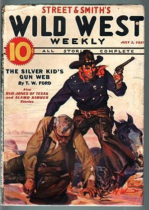 WILD WEST WEEKLY-7/3/1937-PULP-SILVER KID-ALAMO KIMBER VG