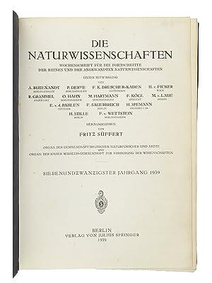 Ueber die künstliche Umwandlung des Urans durch Neutronen I-II. [AND] ten other original papers ...