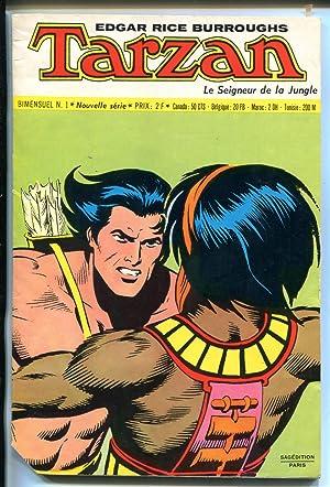 TARZAN LE SIGNEUR DE LA JUNGLE #1 1972-BURROUGHS-FRENCH-HOGARTH ART-vg minus