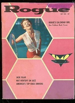 ROGUE-MAY 1959-CHEESECAKE-HARLAN ELLISON-CARROLL SHELBY G/VG