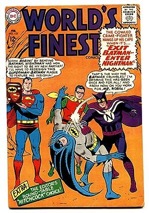 WORLDS FINEST #155 comic book 1965-HITCHCOCK-BATMAN-SUPERMAN