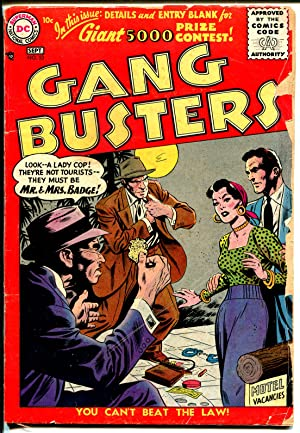Gang Busters #53 1956-DC-GI Cop-crime stories-G