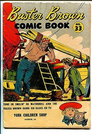 Buster Brown #33 1940's-adventure-humor-Reed Crandall art-G/VG