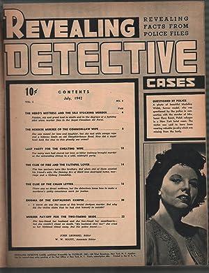 Revealing Detective Cases #2 7/1942-lingerie-cover-lurid-violent pulp-VG/FN