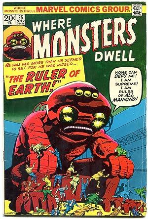 Where Monsters Dwell #25 1971- Ditko & Kirby art- Horror VG-