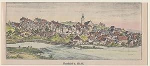 Orig. kolorierter Holzstich - Bayern - Neustadt a. W.- N.