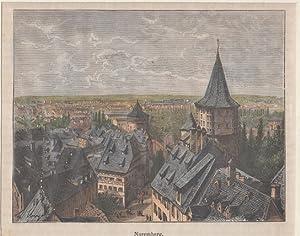 Orig. kolorierter Holzstich - Bayern - Nürnberg.