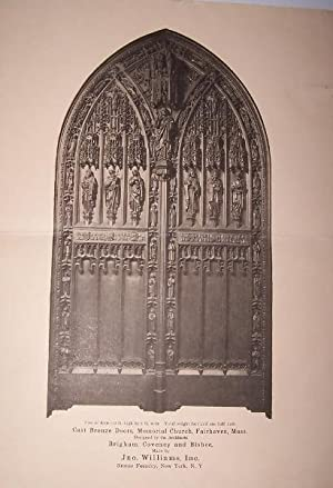 Notable Sculptured Bronze Doors in Memorial Church, Fairhaven, Mass.