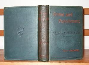 Crime and Punishment. A Russian Realistic Novel: Dostoyevsky (Fyodor).
