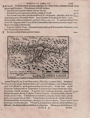 Larius Lacus: Jodocus HONDIUS