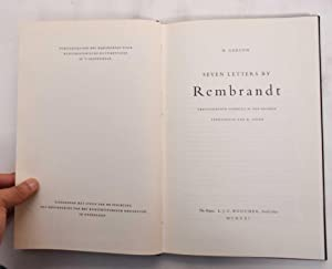 Seven Letters by Rembrandt: Gerson, H. (Horst)