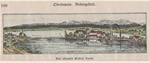 Orig. kolorierter Holzstich - Bayern - Seeon .