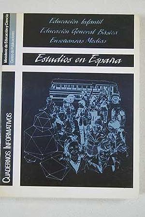 Estudios en España: educación infantil, Educación General