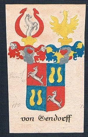 """von Gendorff"""" - Gendorff Gendorf Manuskript Wappen Adel coat of arms heraldry Heraldik: Artist/..."""
