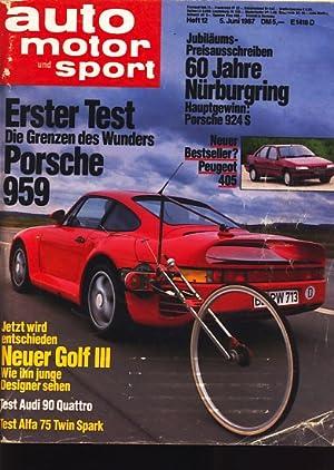 Auto Motor und Sport : Heft 12: Diverse :