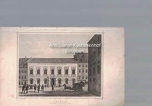 Leipzig. Deutsche Buchhändler Börse. Original-Stahlstich.,Darmstadt, G. G. Lange.,: C. L.Hofmann ...