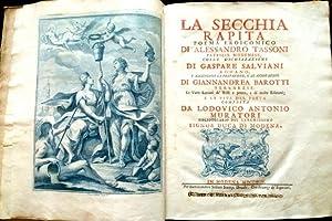 La Secchia Rapita. Poema eroicomico di Alessandro: TASSONI, Alessandro