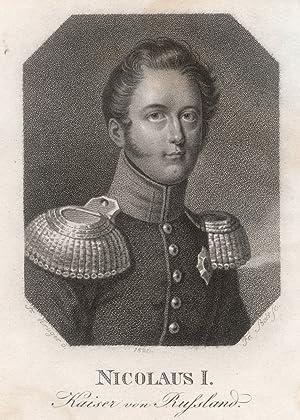 Zarskoje Selo bei Petersburg 06. 07. 1796 - 02. 03. 1855 St. Petersburg). Zar von Russland aus dem ...