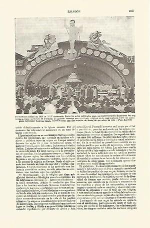LAMINA ESPASA 21859: XXV Centenario del Budismo: Varios