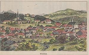 Orig. kolorierte Holzstich - Bayern - München - Miesbach .