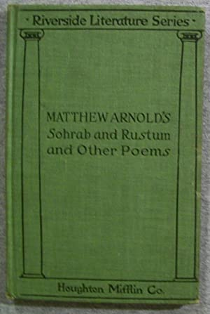 Sohrab and Rustum and Other Poems, Riverside: Arnold, Matthew