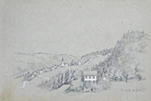 Suisse. - Album de dessins et croquis.: VAUCHER-DUNANT, Ernest