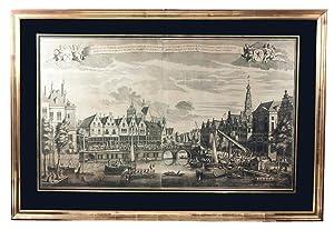 Gesigt van de Visbrug, de Waag en: VIEW - NETHERLANDS