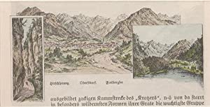 Orig. kolorierter Holzstich - Bayern - Oberstdorf.