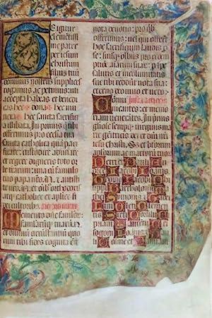 MANUSCRITO ILUMINADO - SÉC. XV - XVI