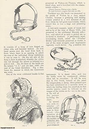 Muzzles for Ladies. Scold's bridles, etc. An original article from The Strand Magazine, 1894.