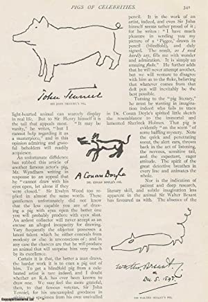 Pigs of Celebrities. Celebrity autographs with blindfolded drawings of pigs. An original article ...