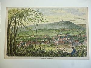 Orig. kolorierter Holzstich - Neuenahr.